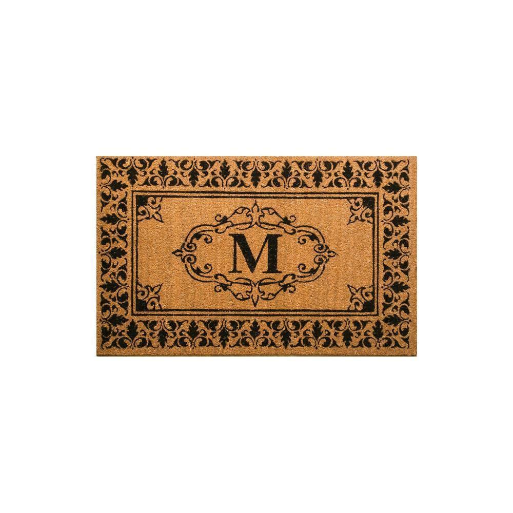 Indoor/Outdoor Monogrammed Letter M Door Mat