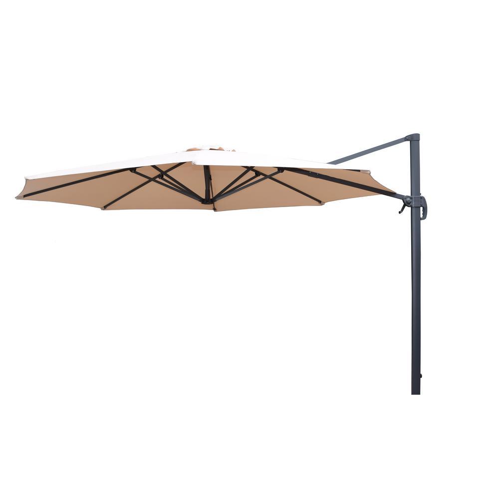 11 ft. Cantilever Patio Umbrella in Beige