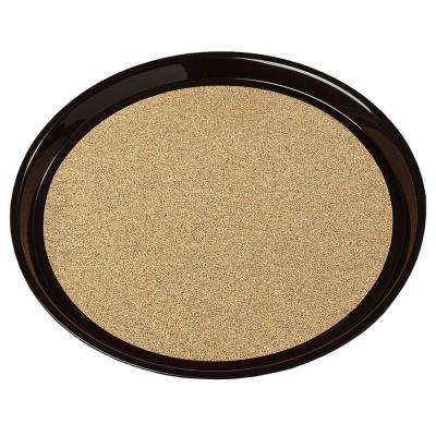 16 in. Round Tray with Cork in Brown (Case of 12)