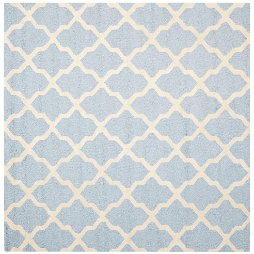 Safavieh Cambridge Light Blue Ivory 6 Ft X 6 Ft Square