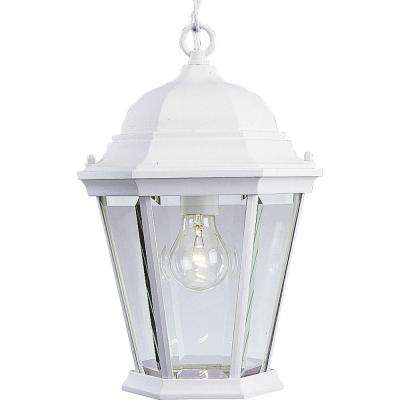 Welbourne Collection Textured White Outdoor Hanging Lantern