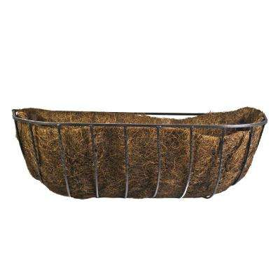 24 in. Canterbury Horse Trough Steel Planter