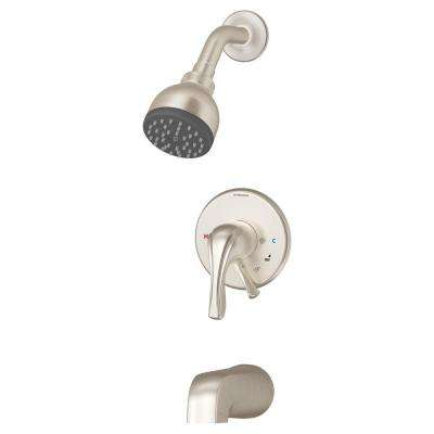 Origins Temptrol 1-Handle 1-Spray Tub and Shower System in Satin Nickel (Valve Not Included)