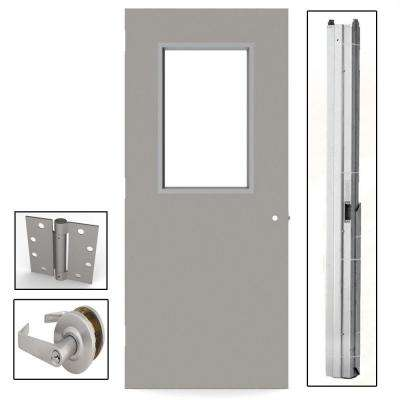 Gray Flush Steel Prehung Commercial ...  sc 1 st  The Home Depot & 36 x 80 - Commercial Doors - Exterior Doors - The Home Depot pezcame.com