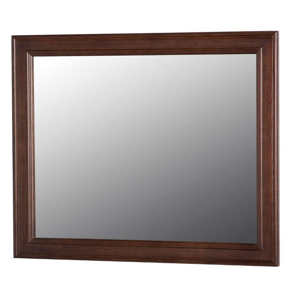 Home decorators collection annakin 31 in w x 26 in h wall mirror in cognac clwm26 cg the Home decorators collection mirrors