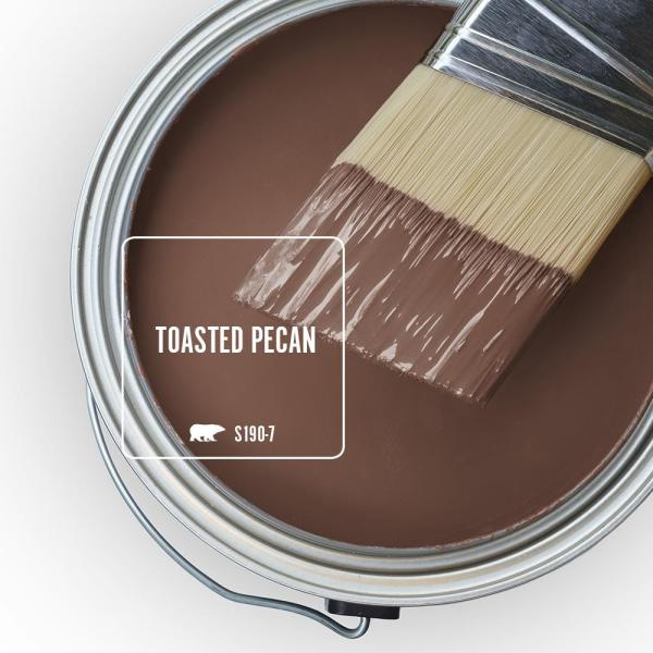 Reviews For Behr Ultra 1 Qt S190 7 Toasted Pecan Satin Enamel Exterior Paint And Primer In One 985304 The Home Depot