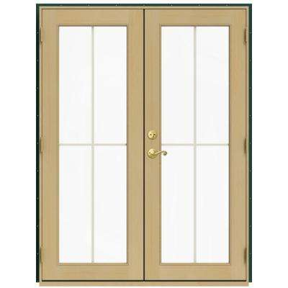 60 x 80 green patio doors exterior doors the home depot 60 in x 80 in w 2500 green clad wood left hand planetlyrics Choice Image