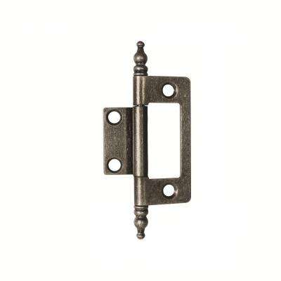 2 in. x 1-5/8 in. Silver Medallion Furniture Barrel Hinge