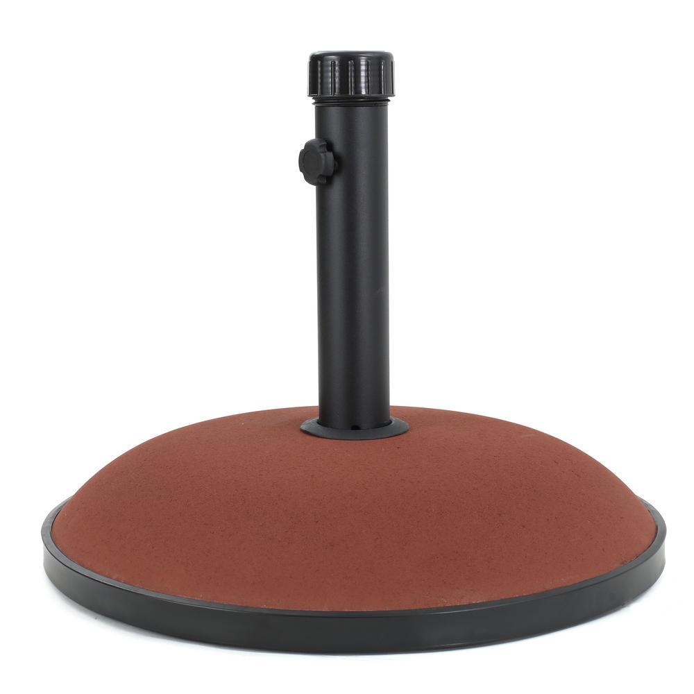 Edgar 66 lbs. Concrete Patio Umbrella Base in Brownish Red