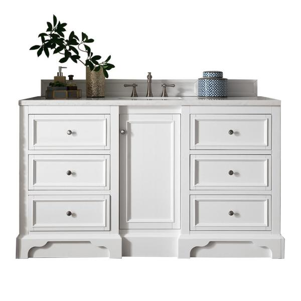 De Soto 60 in. x 35 in. H Single Bath Vanity Cabinet Only (Top Not Included) in Bright White