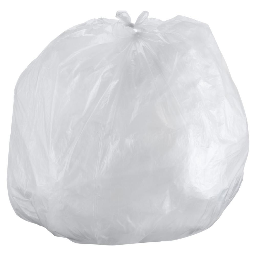 Interleaved High-Density Can Liners, 60gal, 43 x 48, 14mic, Natural, 200/CT