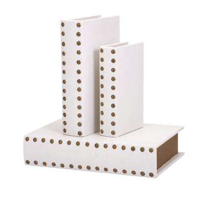 Essentials Faux Leather Celebrations Book Boxes (Set of 3)