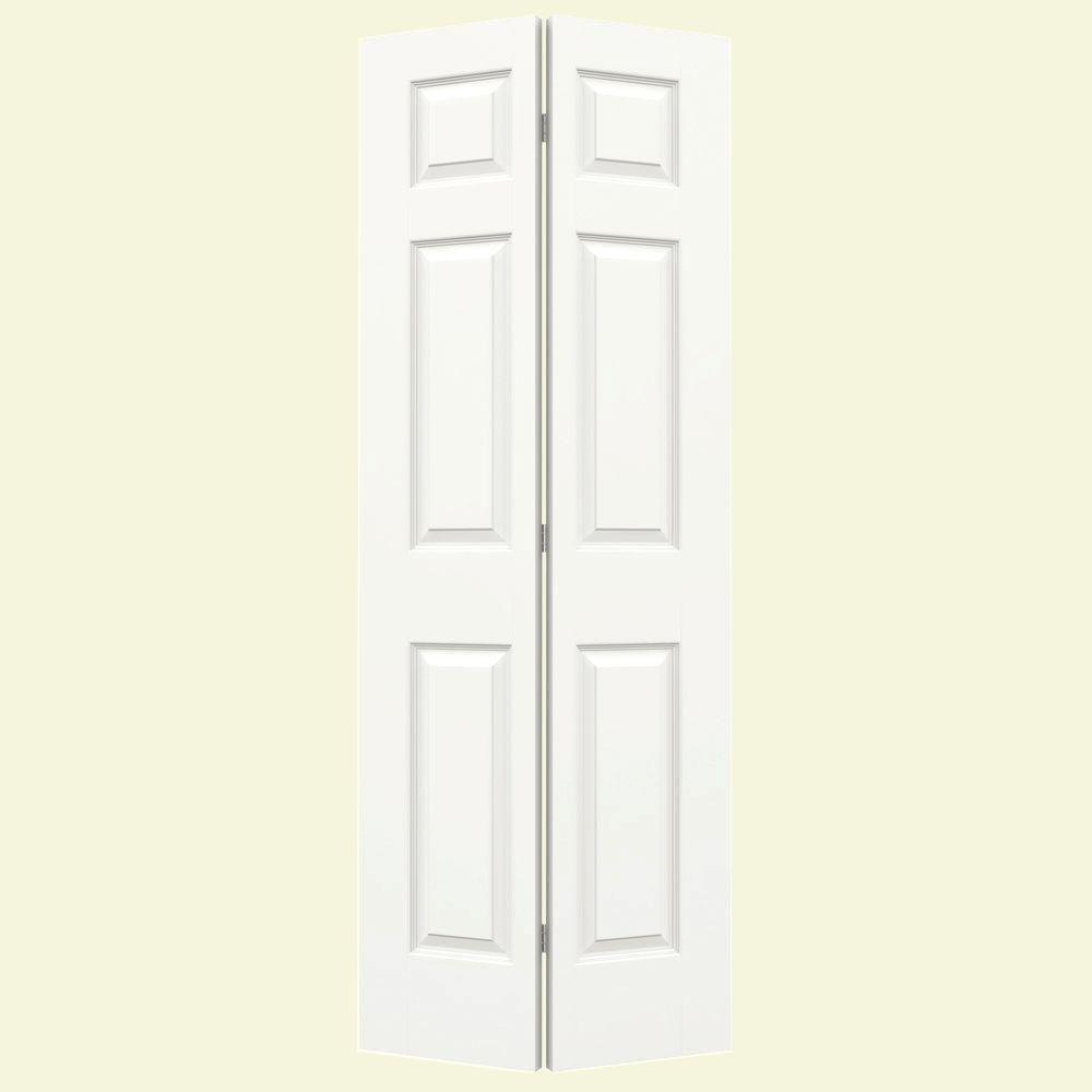 32 in. x 80 in. Colonist White Painted Smooth Molded Composite