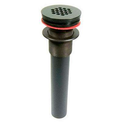 Permanent Grid Bath Drain with Overflow in Oil Rubbed Bronze