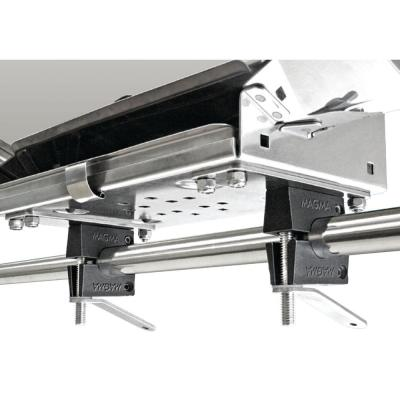Dual Round Rail (HD) Mount for ChefsMate, Newport, Catalina, Monterey and Mount Tables Fits 7/8 in. or 1 in.