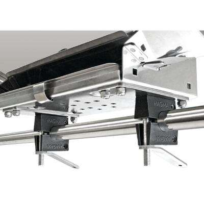 Dual Horizontal Round Rail (HD) Mount for All ChefsMate, Newport, Catalina, Monterey and Dual Mount Tables