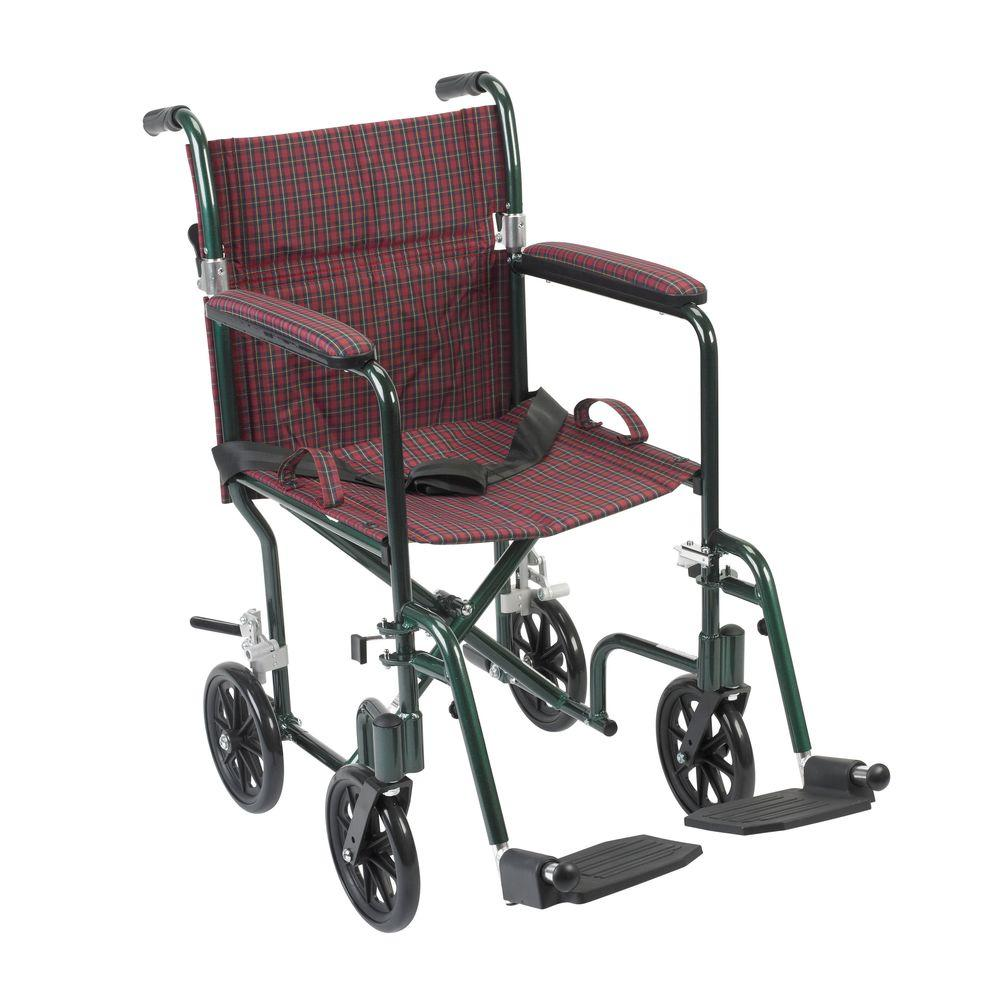 Drive Flyweight Lightweight Transport Wheelchair with Gre...