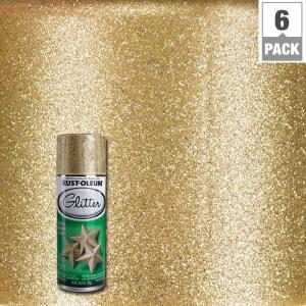 10.25 oz. Gold Glitter Spray Paint (6-Pack)