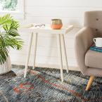Nonie Distressed White Side Table