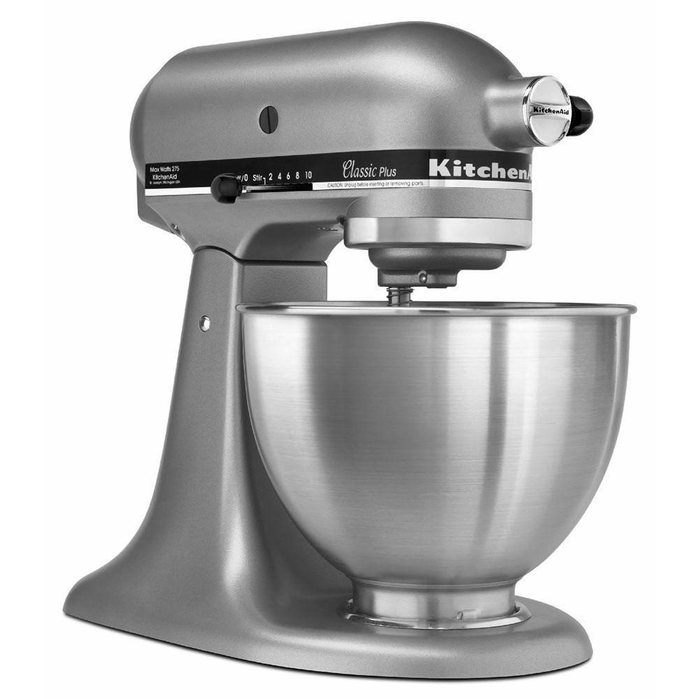 KitchenAid Classic Plus 4.5 Qt. Tilt-Head Stand Mixer in Silver
