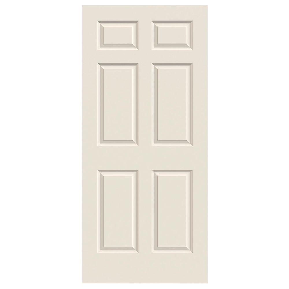 Jeld Wen 32 In X 80 In Hardwood Unfinished Flush Solid: JELD-WEN 32 In. X 78 In. Colonist Primed Smooth Solid Core