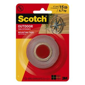 dfdee983497 Scotch 1 in. x 1.66 yds. Permanent Double Sided Outdoor Mounting Tape (Case