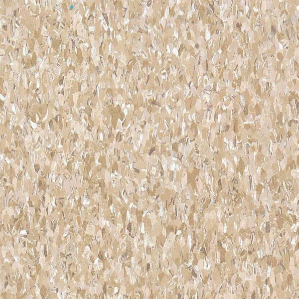 Imperial Texture VCT 12 in. x 12 in. Cottage Tan Standard Excelon Commercial Vinyl Tile (45 sq. ft. / case)