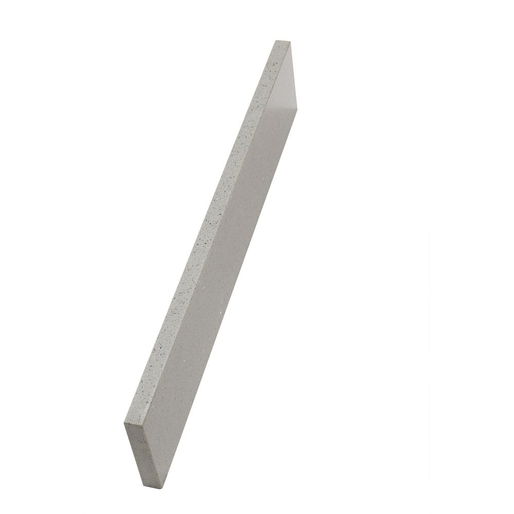 Home Decorators Collection 21 in. W Engineered Quartz Sidesplash in Sterling Grey