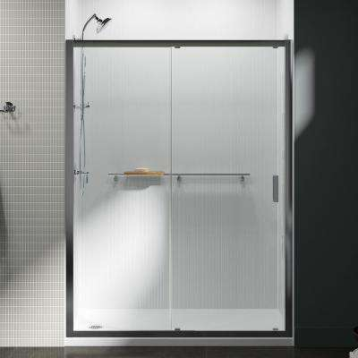Aerie 60 in. x 74.875 in. Frameless Sliding Shower Door in Bright Polished Silver Moving Panel