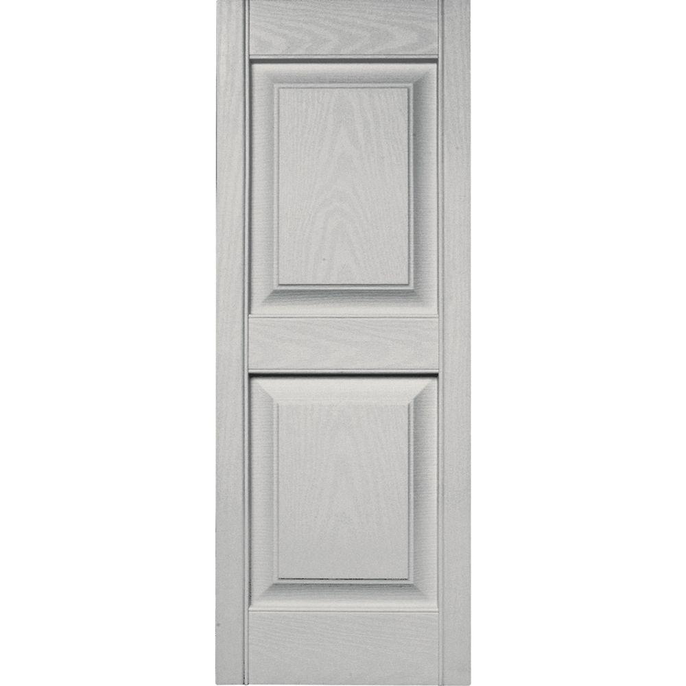 Exceptional Raised Panel Vinyl Exterior Shutters Pair In #030 Paintable 030140039030    The Home Depot