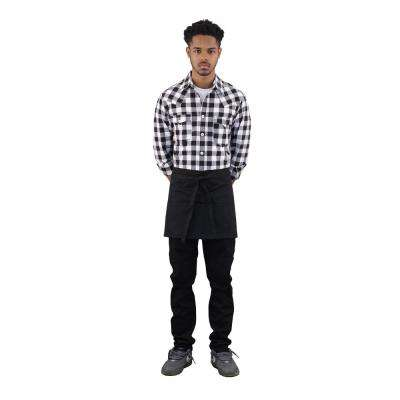 Server's 4 Pocket Denim Half Apron, Black