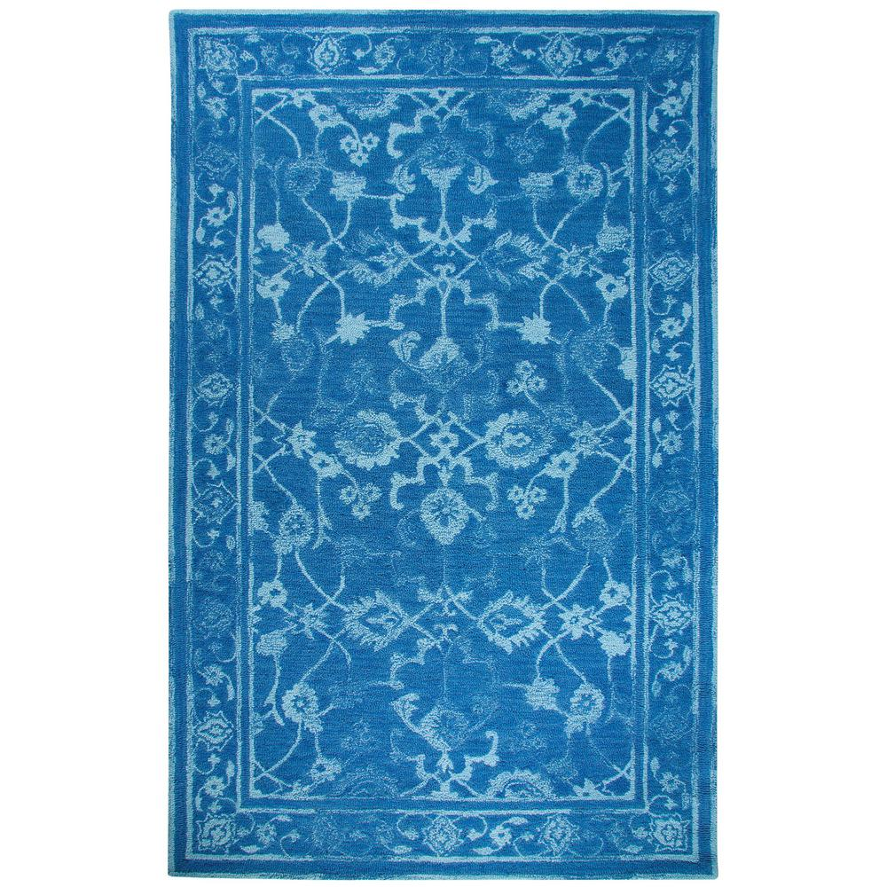 Avalon Dark Blue/Light Blue 3 ft. 3 in. x 5 ft.