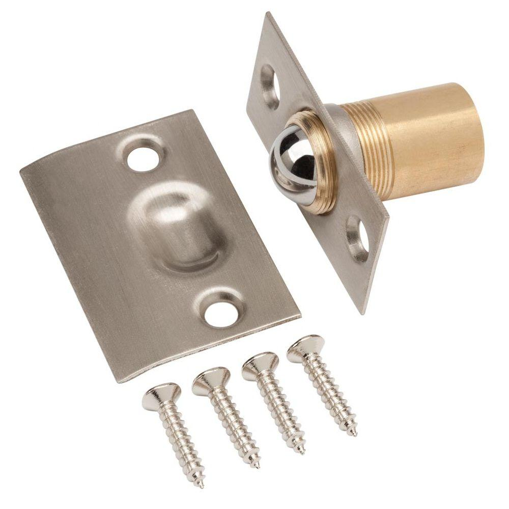 Satin Nickel Latch Adjustable Ball Catch  sc 1 st  Home Depot & Door Latches \u0026 Catches - Door Accessories - The Home Depot