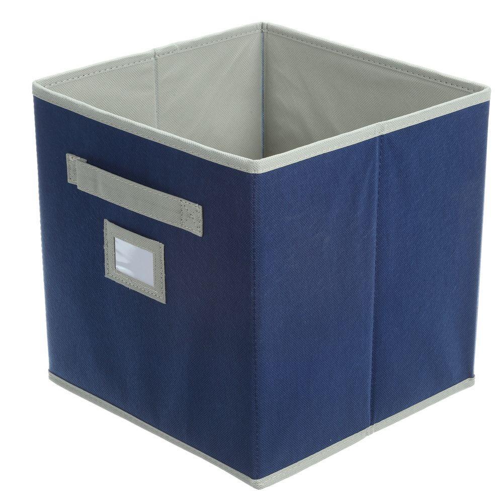 Martha Stewart Living 10-1/2 in. x 11 in. Azurite Blue Fabric Drawer
