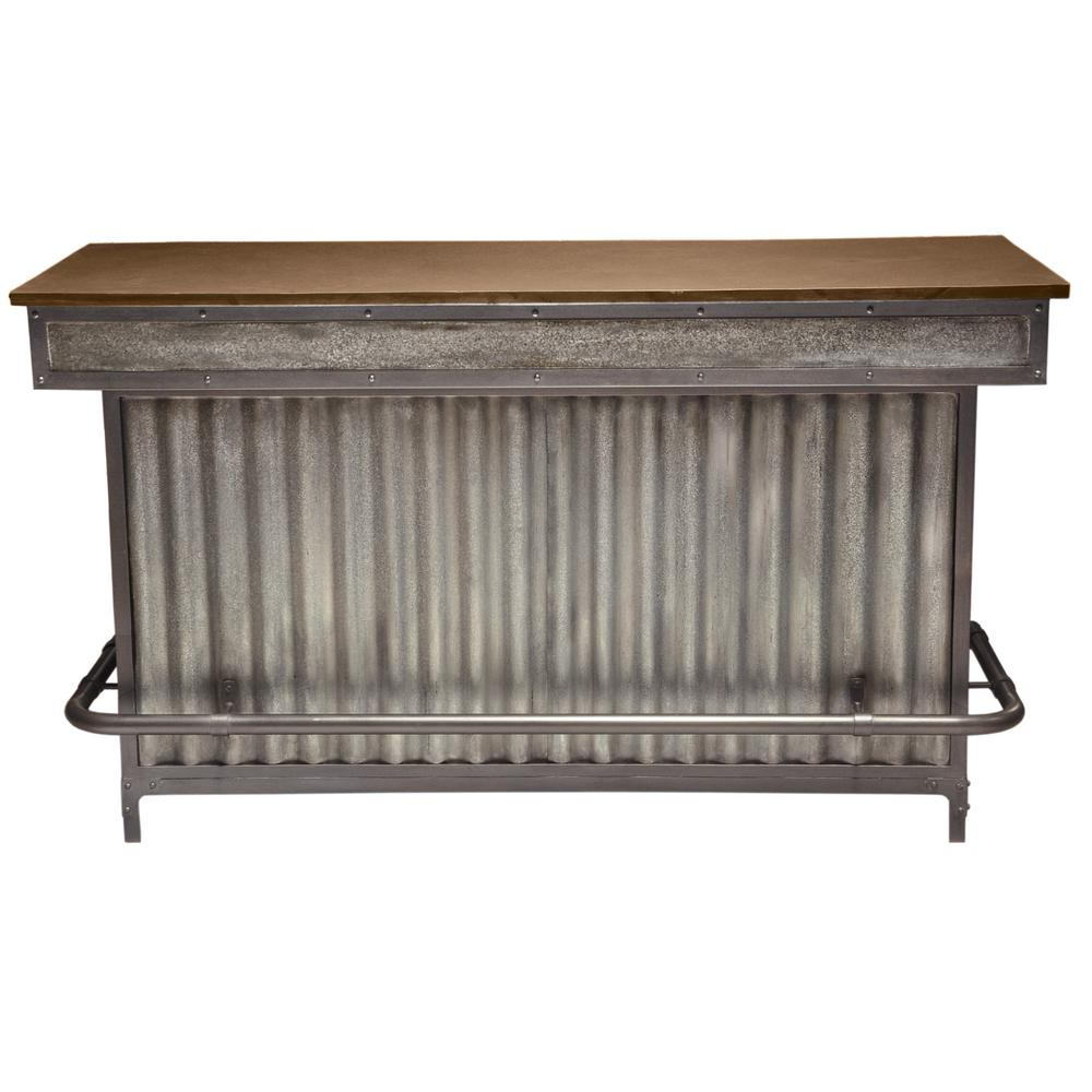 Accentrics Home Brown Wood and Metal Bar