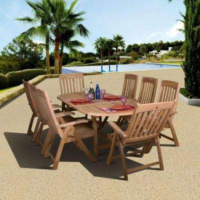 Belfast Teak 9-Piece Patio Dining Set