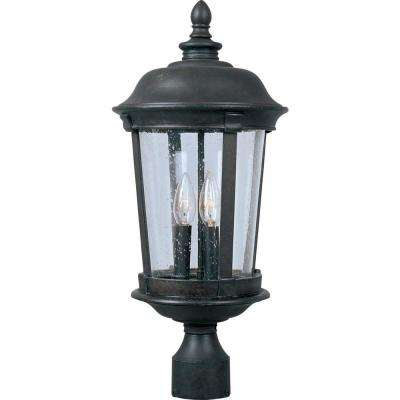Dover Vivex 3-Light Bronze Outdoor Pole/Post Mount