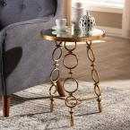 Baxton Studio Inaya Antique Gold Accent Table