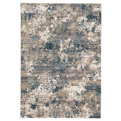 Intarsia Blue/Gray 2 ft. 3 in. x 8 ft. Abstract Runner Rug
