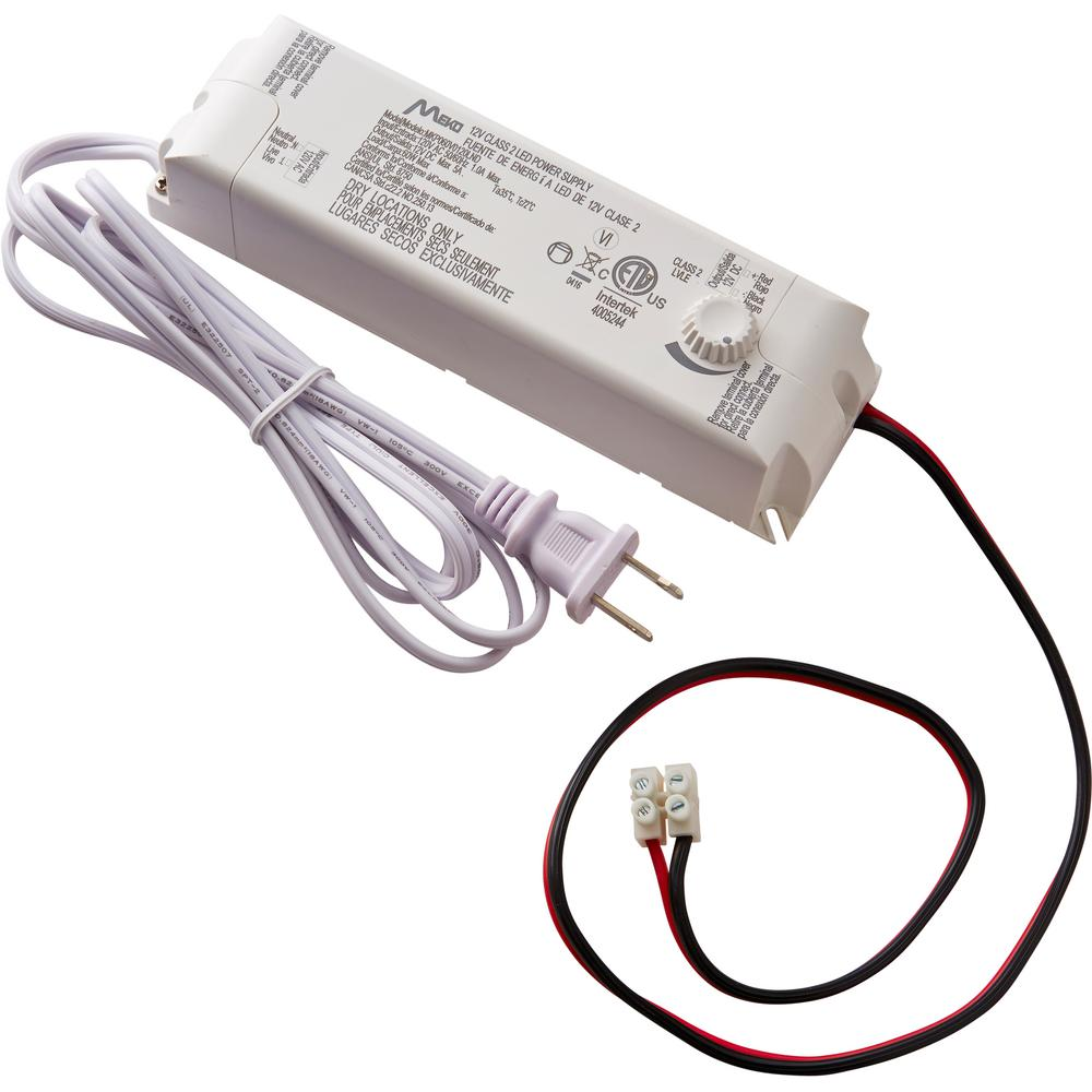 commercial electric 60-watt 12-volt led lighting power supply with dimmer
