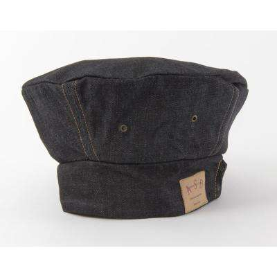 Adjustable Vintage Draper Denim Chef's Toque, Blue