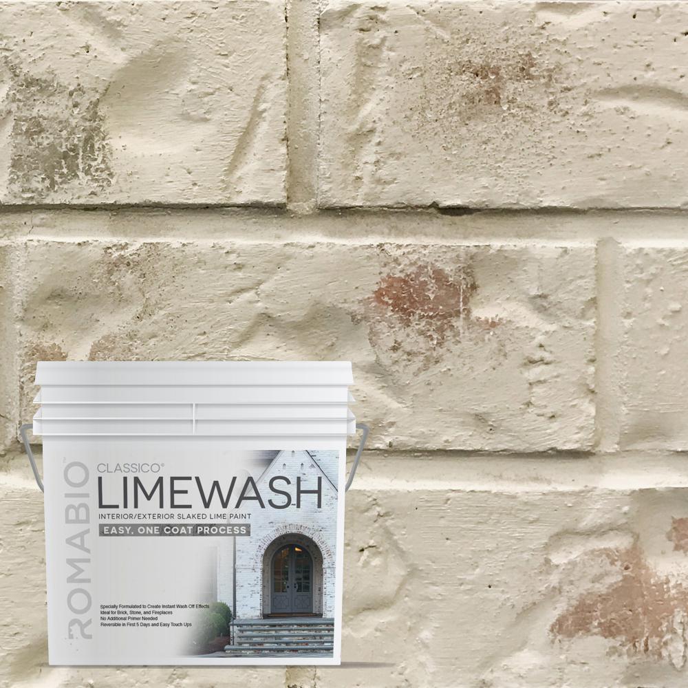 0.67 gal. Riposo Beige Limewash Interior/Exterior Paint