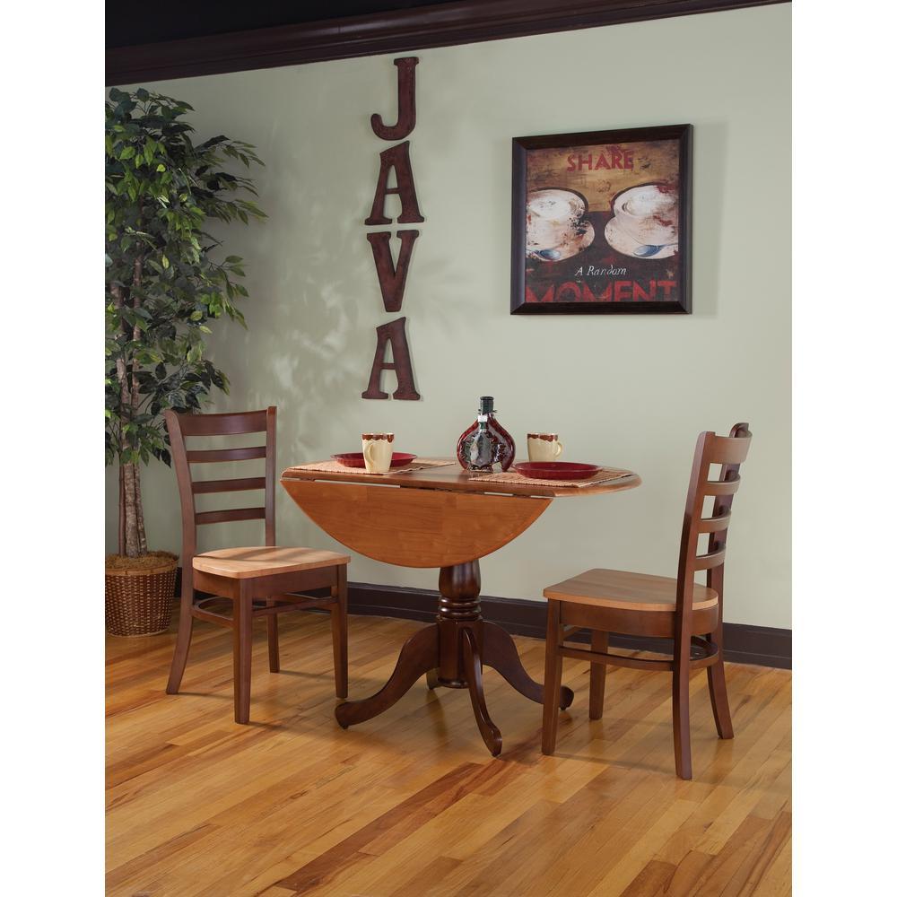 3-Piece Cinnamon and Espresso Dining Set