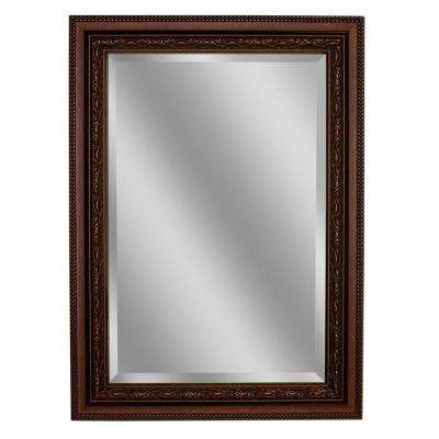 Single Framed Wall Mirror In Copper
