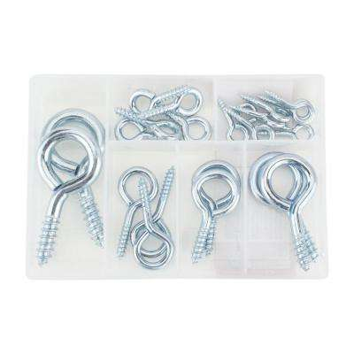 Zinc-Plated Assorted Screw Eye Kit (21-Pack)