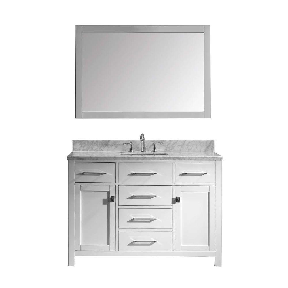 Caroline 48 In. W X 36 In. H Vanity With Marble Vanity Top In