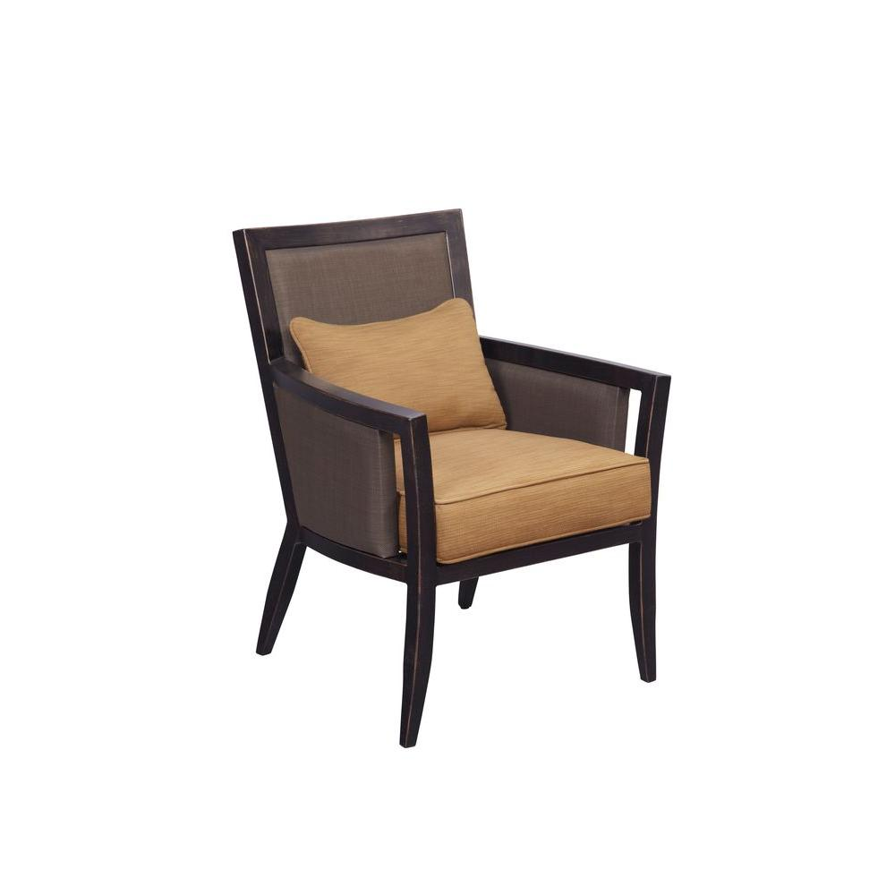 Greystone Patio Dining Chair with Toffee Cushions (2-Pack) -- CUSTOM