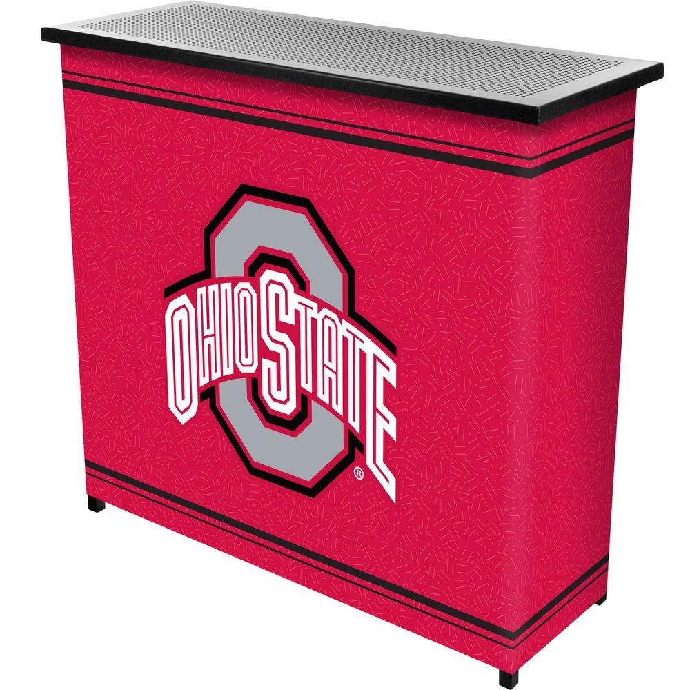 The Ohio State University 2-Shelf Black Bar with Case, Red