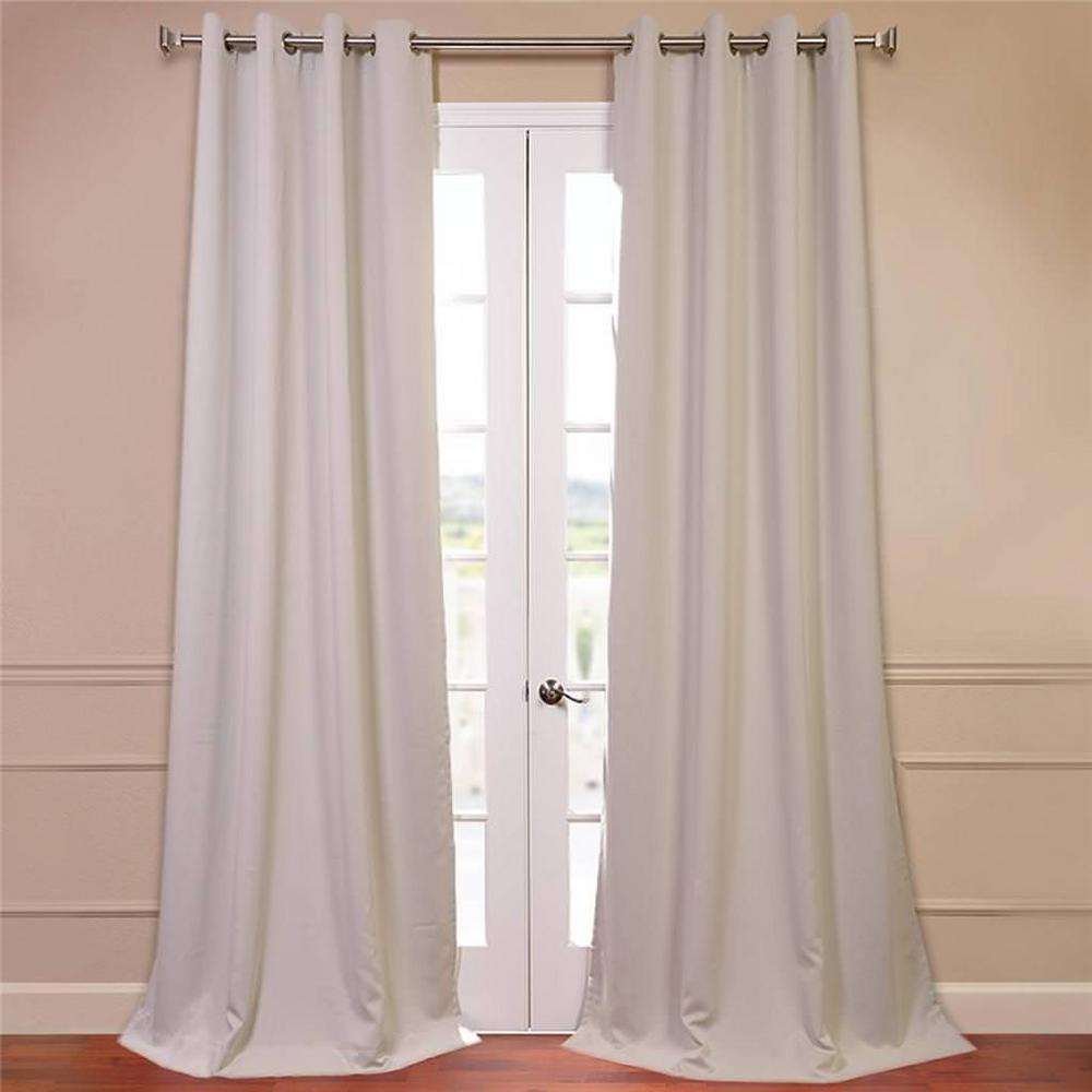 Exclusive Fabrics & Furnishings Semi-Opaque Egg Nog Grommet Blackout Curtain - 50 in. W x 96 in. L (Panel)