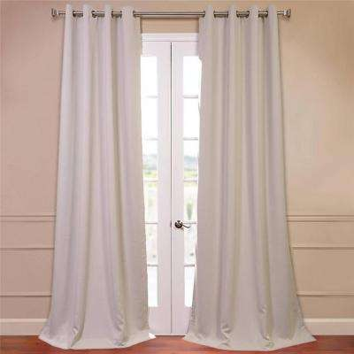 Semi-Opaque Egg Nog Grommet Blackout Curtain - 50 in. W x 96 in. L (Pair)
